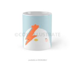 Chicken mug design. Available on Redbubble.